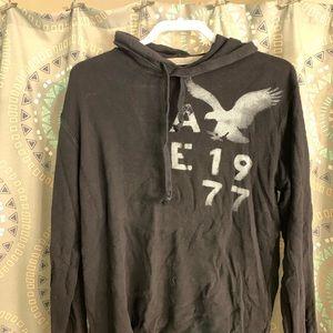 American Eagle Hooded Henley